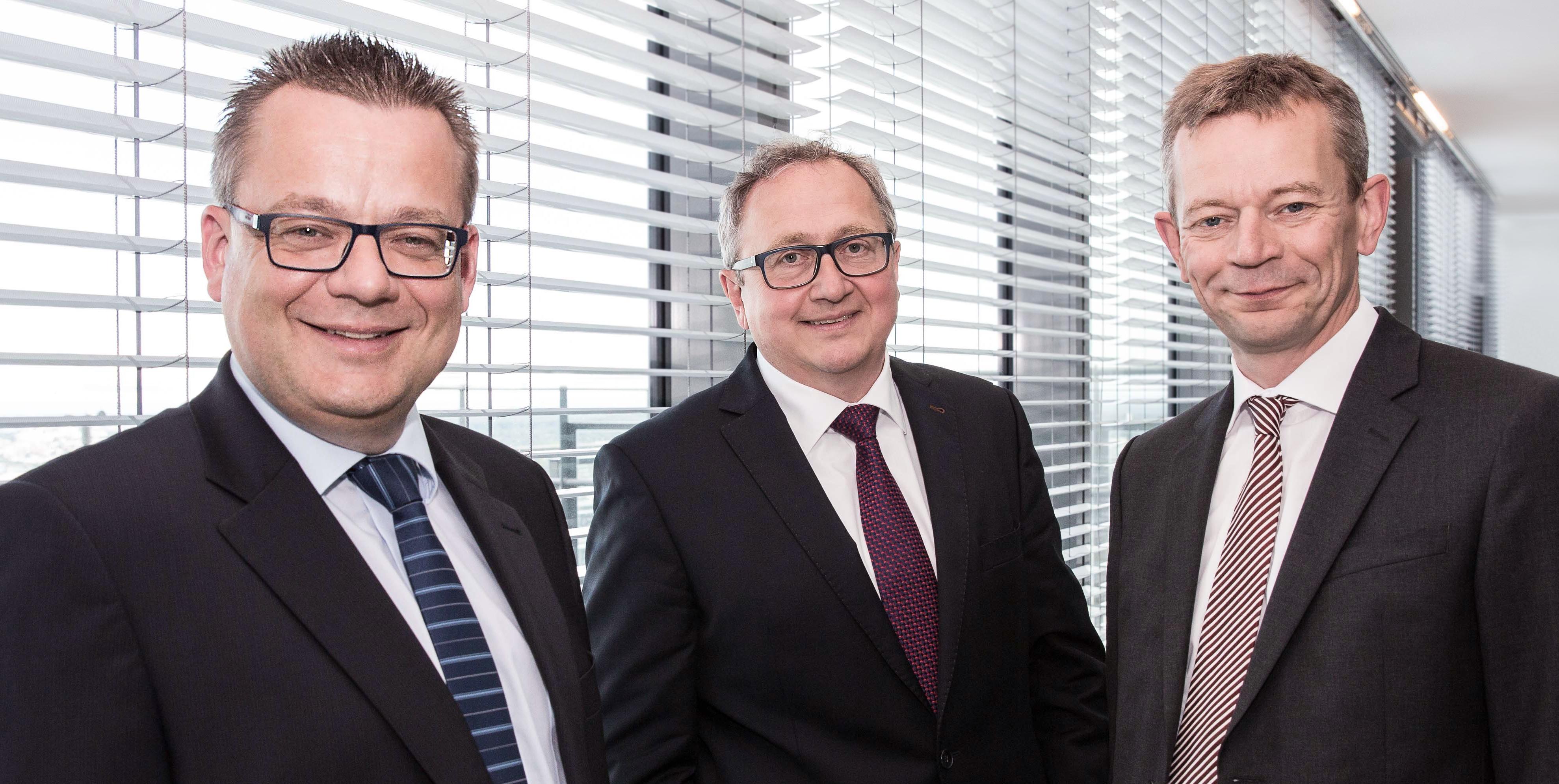 v.l.n.r. Marcus Wetzel, Thilo Wiegand und Falco Schöning