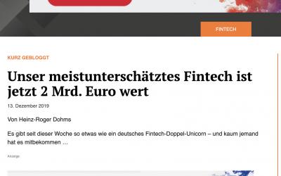 """""""Ur-Fintech"""" 2 Mrd. Euro schwer"""