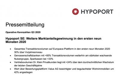 Pressemitteilung – Hypoport SE: Weitere Marktanteilsgewinnung