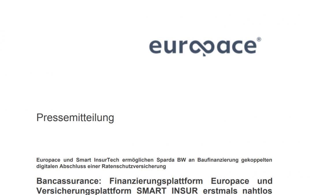 Pressemitteilung: Europace und SMART INSUR erstmals nahtlos miteinander vernetzt