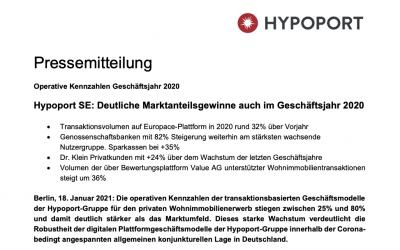 Pressemitteilung – Hypoport SE: Deutliche Marktanteilsgewinne auch im Geschäftsjahr 2020