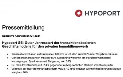 Pressemitteilung – Hypoport SE: Guter Jahresstart